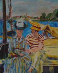 Argenteuil - Acrilico su cartone telato (40 x 50 cm, 1988)