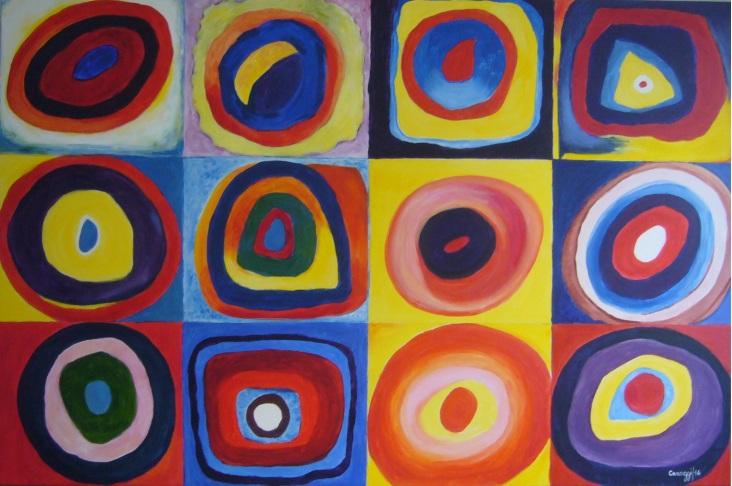 Farbstudie quadrate - Acrilico su tela Gallery (150 x 100 cm, 2014) - [Collezione privata]