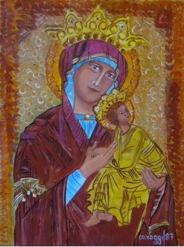 Icona sacra [1987] - Acrilico su masonite (30 x 40 cm)