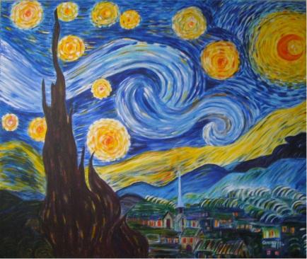 Notte stellata - Acrilico su tela Gallery (120 x 100 cm, 2014) - [Collezione privata]