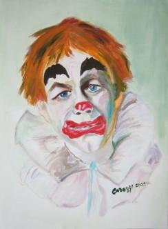 Pagliaccio da circo [2005] - Acquerello su cartoncino (24 x 32 cm)