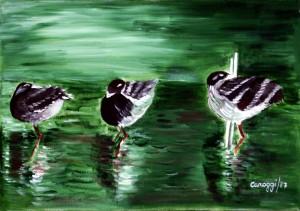 Trampolieri [1987] - Olio su tela (50 x 35 cm)