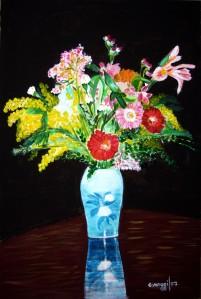 Vaso di fiori [2007] - Acrilico su compensato (40 x 60 cm) - Collezione privata -