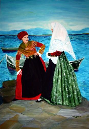 Costumi di Sant'Antioco [2006] - Acrilico su tela (70 x 100 cm)