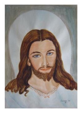 Gesù Misericordioso [1987] - Acquerello su cartoncino (29,5 x 40 cm)