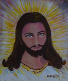 Gesù Misericordioso [1987] - Acrilico su supporto telato (25 x 30 cm)