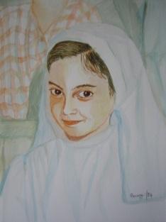 Prima comunione - Acquerello su cartoncino (32 x 24 cm, 1994)