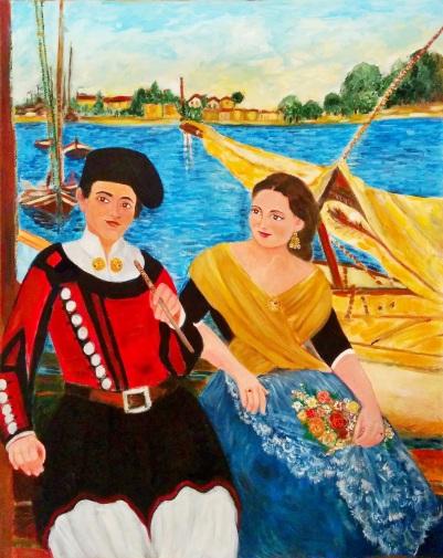 Sposi in barca [2008] - Acrilico su tela Gallery (80 x 100 cm)