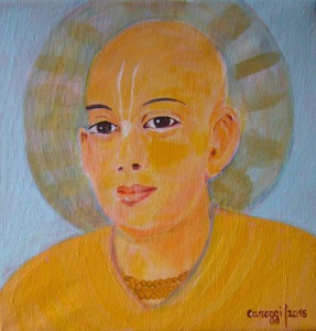 Sri Chaitanya [2015] - Acrilico su tela (25 x 25 cm) - Collezione privata -