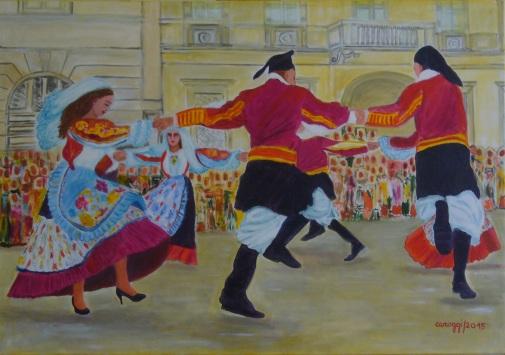 Su Ballu Lestru [2015] - Acrilico su tela Gallery (100 x 70 cm)