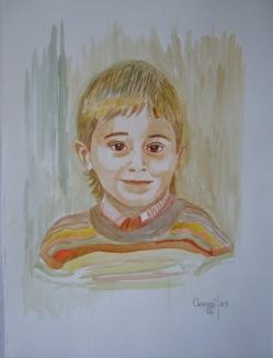 Bambino - Acquerello su cartoncino (24 x 32 cm, 2005)