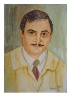 Bozzetto di ritratto - Pastello su cartoncino rinforzato (18 x 23 cm, 1989)