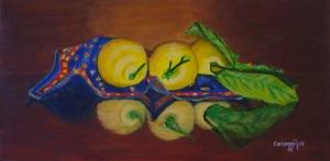 Limoni - Acrilico su tela (60 x 30 cm, 2007)