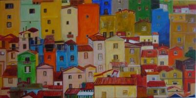 I colori di Bosa [2015] - Acrilico su tela (80 x 40 cm)