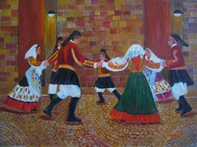Caroggi, Su Ballu Alligru [2015] - Acrilico su tela Gallery (80 x 60 cm)