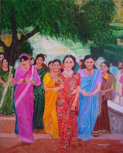 Sposa Vaisnava [2017] - Acrilico su tela Gallery (80 x 100 cm)